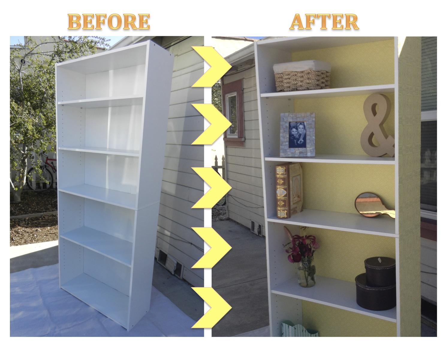 Target Bookshelf Makeover