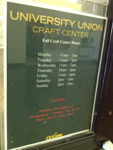 Cal Poly Craft Center Hours
