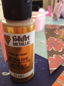 Folkart Metallic Gold Acrylic Paint