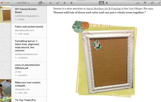 Pocket App for Mac
