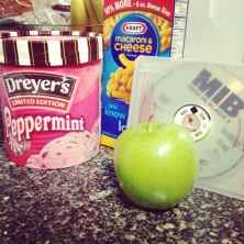 Peppermint Ice Cream, Macaroni and Cheese, Granny Smith Apple, Men in Black 3