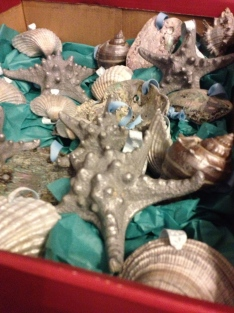 The seashell ornaments I made for my aunt for Christmas. They were a hit!