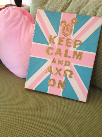 Keep Calm and Carry On Canvas finished product