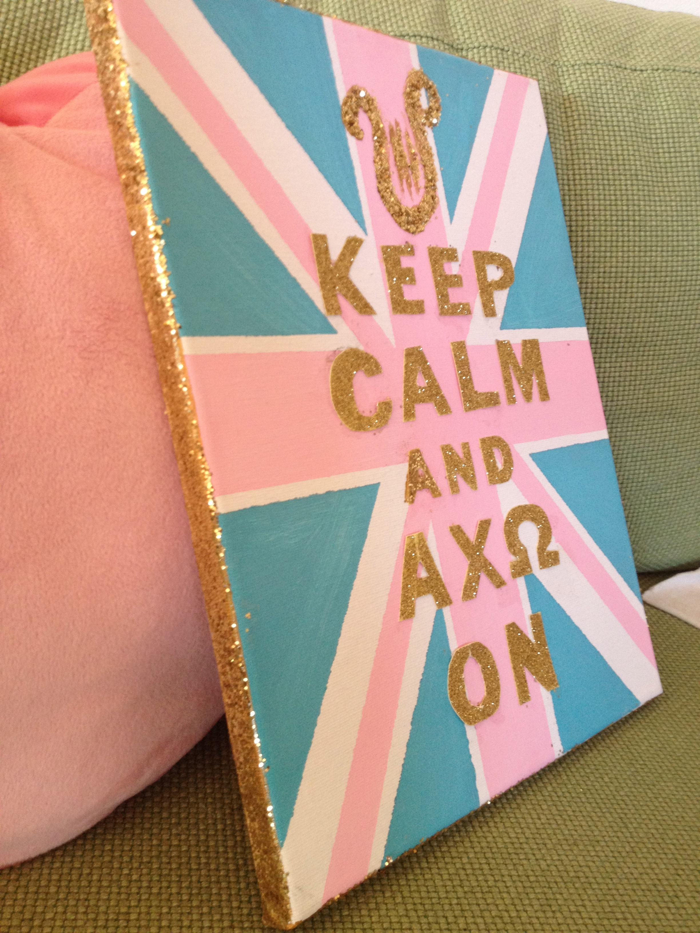 DIY Keep Calm And Carry On Canvas