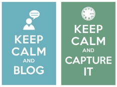 Keep Clam and Blog, Keep Calm and Capture it
