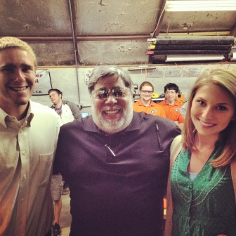 "Ed Zuchelli and me with Apple creator, Steve ""Woz"" Wozniak"