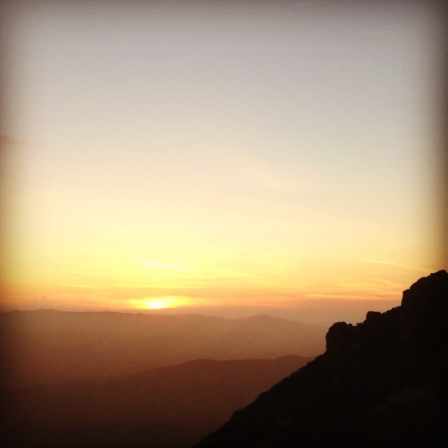 Sunset from the top of Bishop Peak