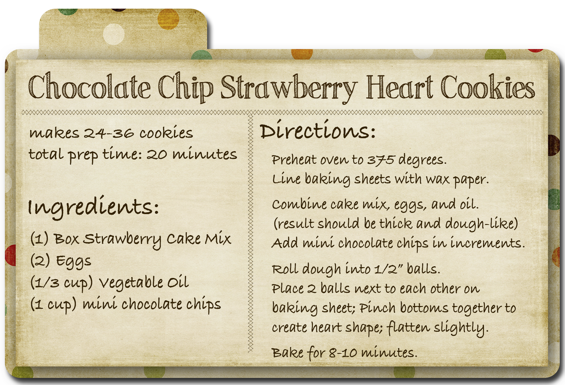 Easy recipes for choc chip cookies - Food for health recipes
