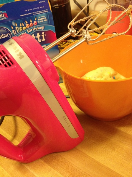 my new pink Kitchen Aid mixer