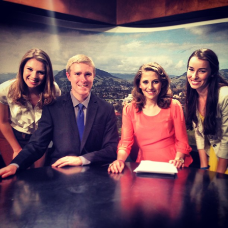 Christina, Ed, Me, and Katie. We were all anchors on the last CPTV show if the quarter