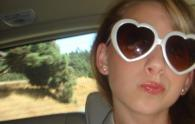 Yet another wonderful duck-faced selfie, showcasing my heart-shaped sunglasses.
