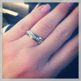 My aunt's beautiful engagement ring. I'm so happy for her!